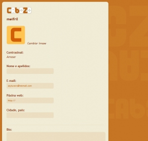 Configuración das contas de Cabozo