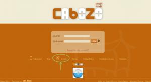 """As personas sen conta en Cabozo poden acceder a """"Arredor"""" dende a portada de Cabozo"""