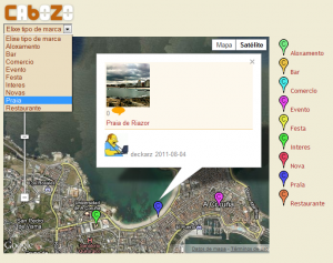 Calquera pode visitar os sitios de interese compartidos en Cabozo