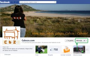 Página de Cabozo en Facebook