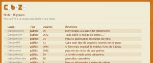 Xa hai máis de 120 grupos/foros públicos de diferentes temáticas en Cabozo