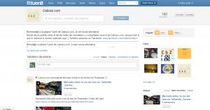 A nosa páxina en Tuenti