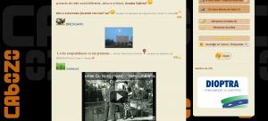 Publicidade en Cabozo como parte do acordo de colaboración para o novo deseño da web