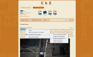 Tamén podes traducir textos ou webs