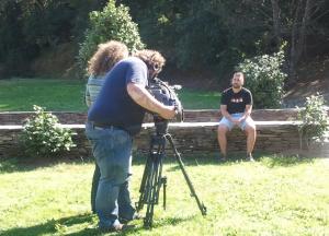 Ángel Folgueira entrevistado para a canle internacional de TVE